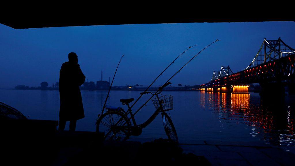 El río Yalú, unión entre China y Corea del Norte