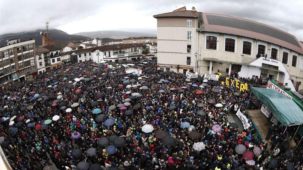 Manifestación en Alsaua