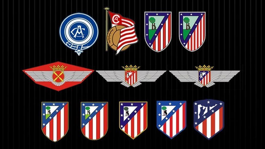 El Atlético de Madrid modifica sensiblemente su escudo y lo dota con los colores \