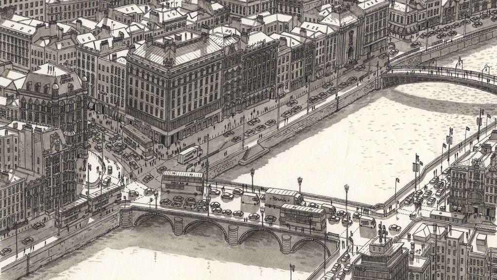 Un artista dibuja de memoria diferentes ciudades increíblemente detalladas