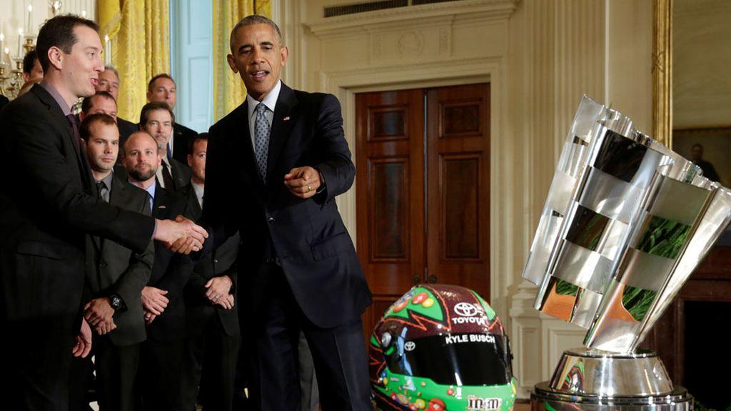 Obama celebra la Copa Sprint de la NASCAR (28/09/2016)