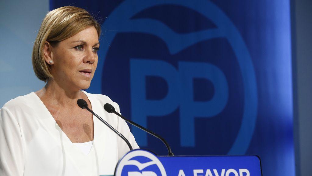 Cospedal, dispuesta a apoyar a Page tras la ruptura del acuerdo con Podemos