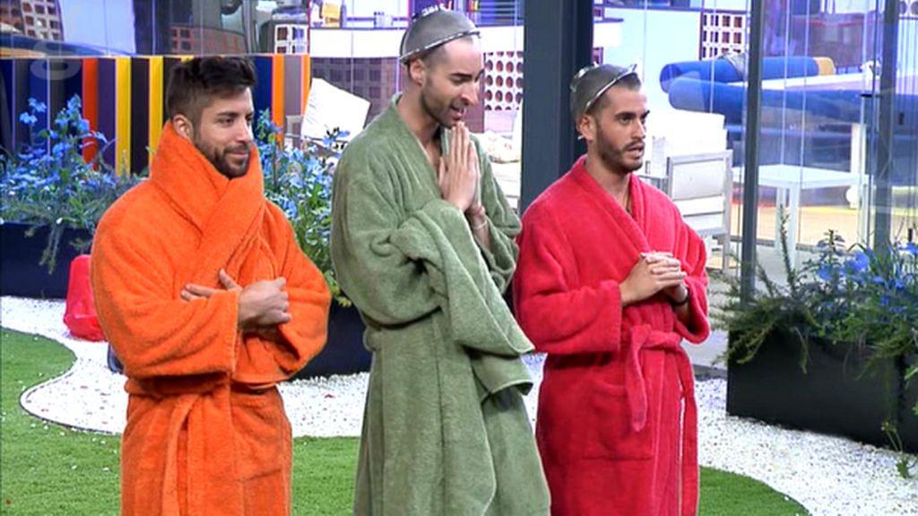 Alain, Miguel y Rodrigo