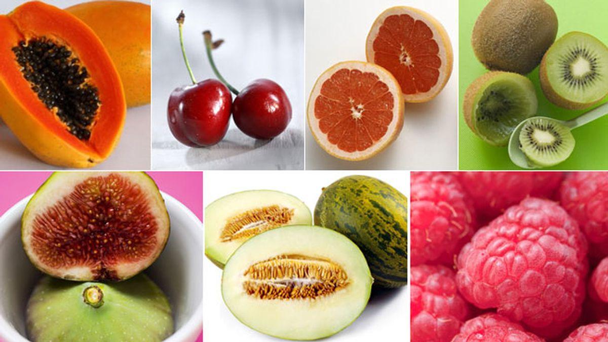 Siete frutas con poco azúcar