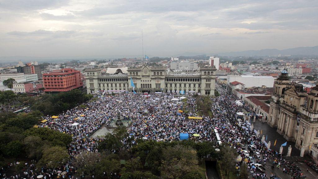 Protesta en Ciudad de Guatemala
