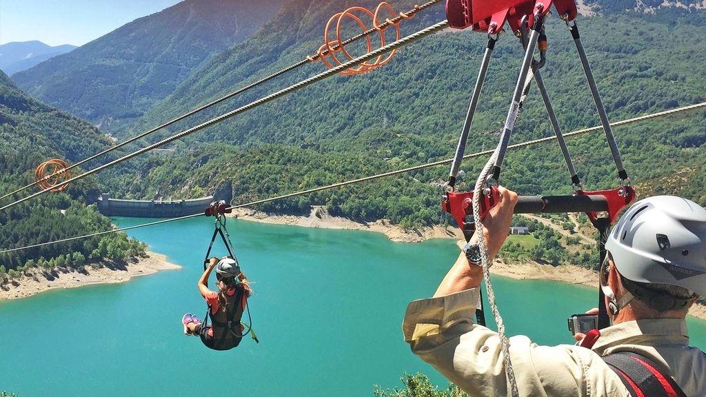 volando sobre los Pirineos