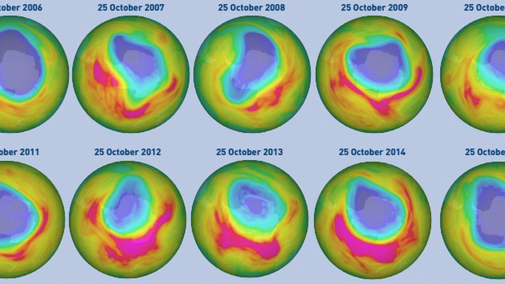 Evolución del agujero de la capa de ozono