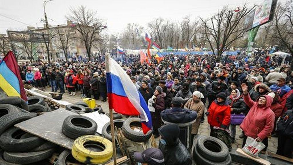 """""""Operación antiterrorista"""" de Ucrania contra los prorrusos en Slaviansk"""