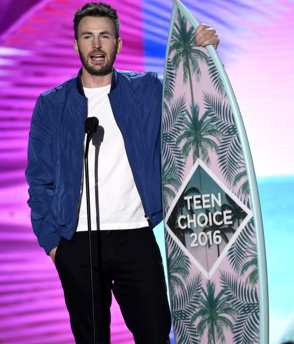 Chris Evans en los 'Teen Choice Awards'