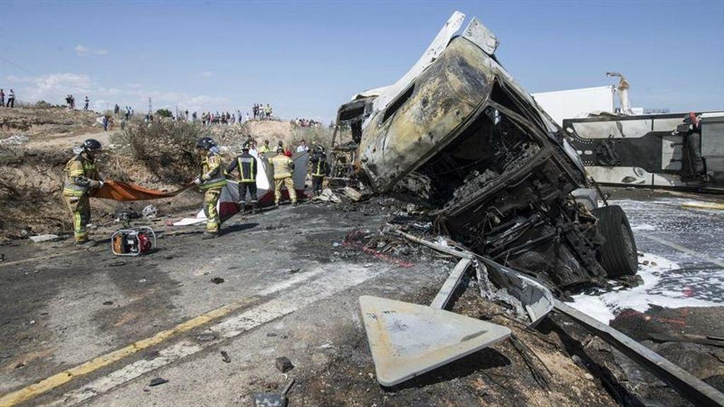 Tres fallecidos en un accidente de tráfico en Murcia