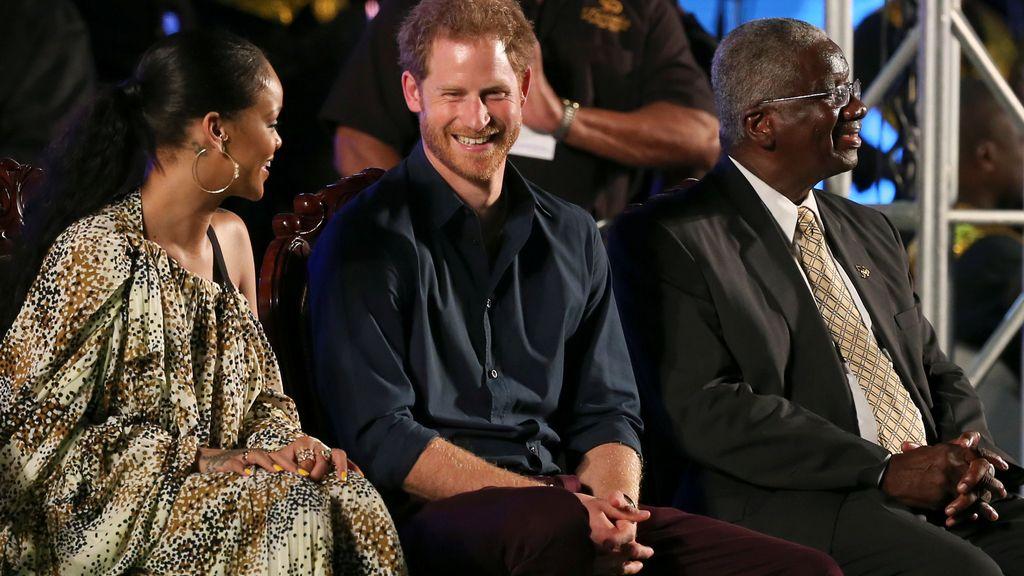 El príncipe Harry y Rihanna, de fiesta