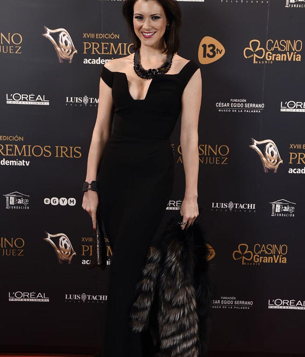 El elegante 'total black' de María Jesús Ruiz, diseño de Hannibal Laguna
