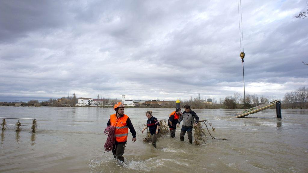 Tudela trata de volver a la normalidad tras la riada