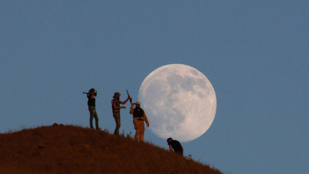 Luna llena sobre Siria