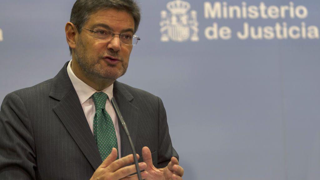El ministro de fomento y justicia en funciones, Rafael Catalá.