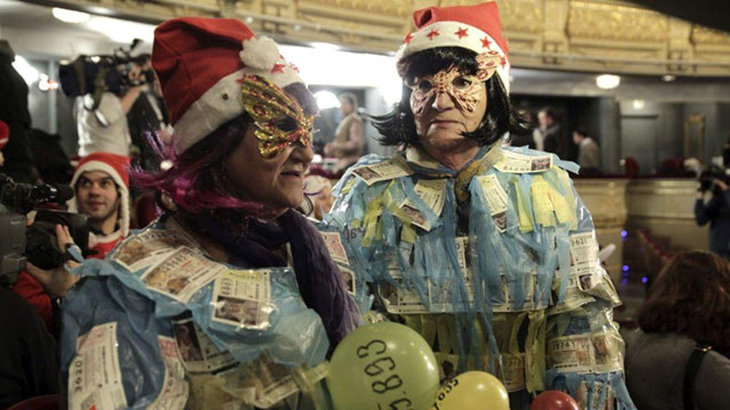 Diversión y pasión en el Teatro Real donde se celebra el Sorteo de Navidad