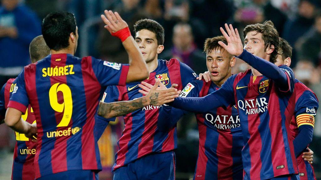 El Barça fulmina al Elche, acaricia los cuartos y rebaja la tensión