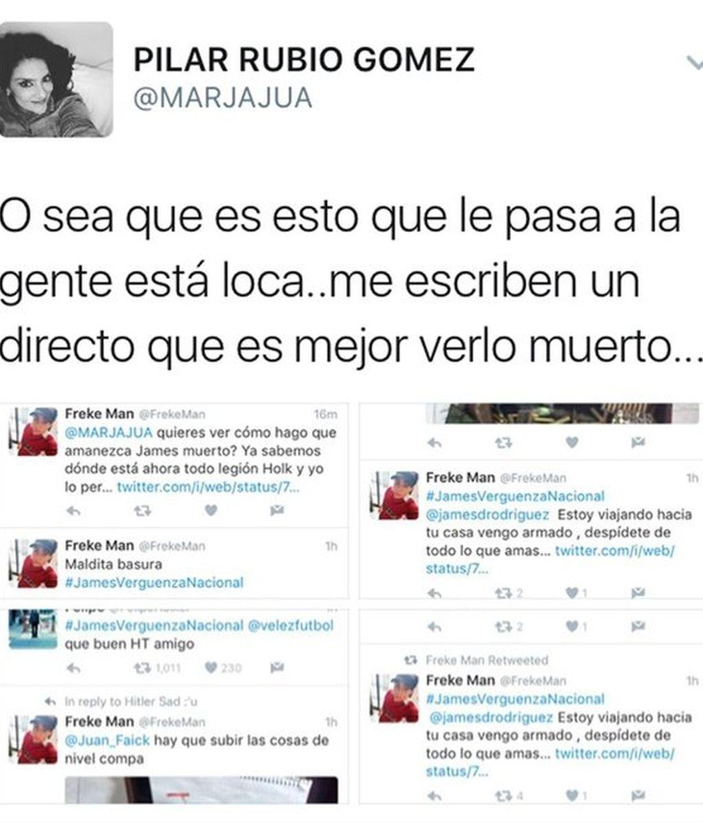 Amenazas a James Rodríguez