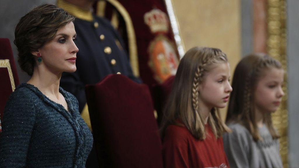 La reina Letizia con Leonor y Sofía