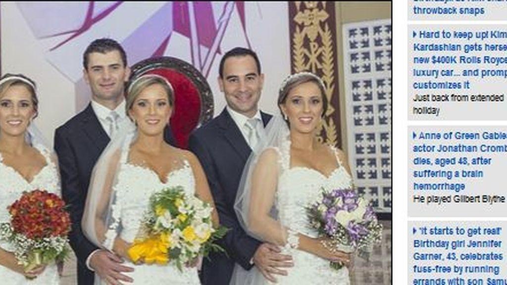 Se casan el mismo día y eligen ramos diferentes para ser distinguidas por sus novios