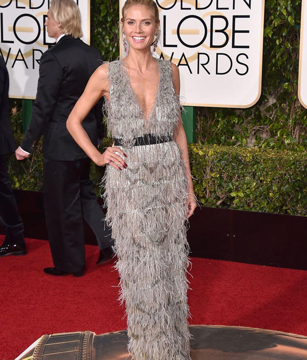 Heidi Klum con vestido de Marchesa