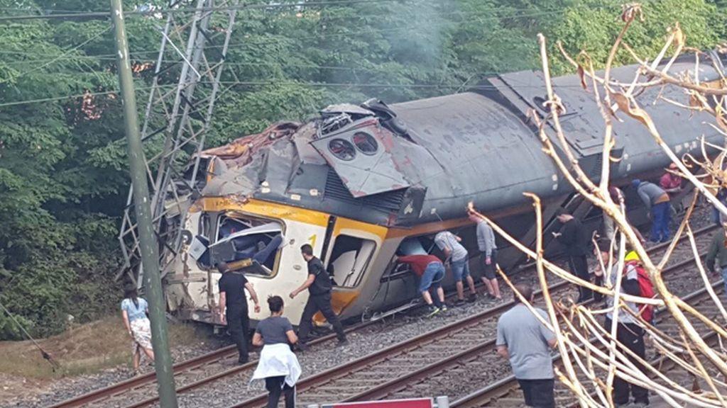 Accidente tren O Porriño