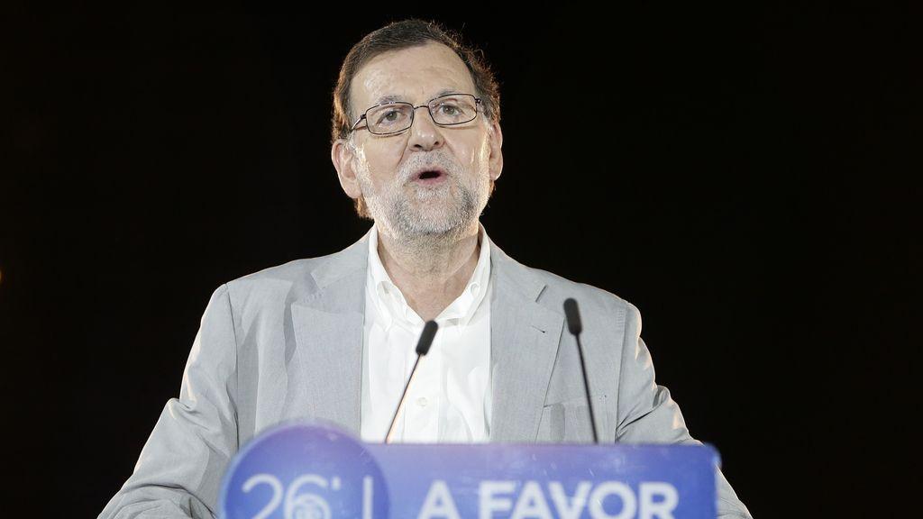 Mariano Rajoy en el acto de cierre de campaña en Madrid
