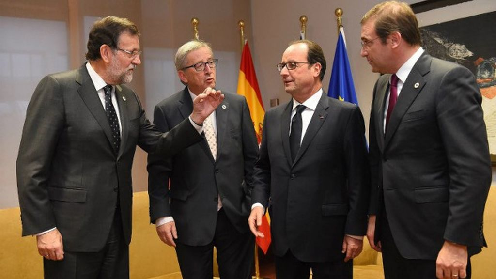 Rajoy, Hollande, Passos Coelho y Juncker en Bruselas