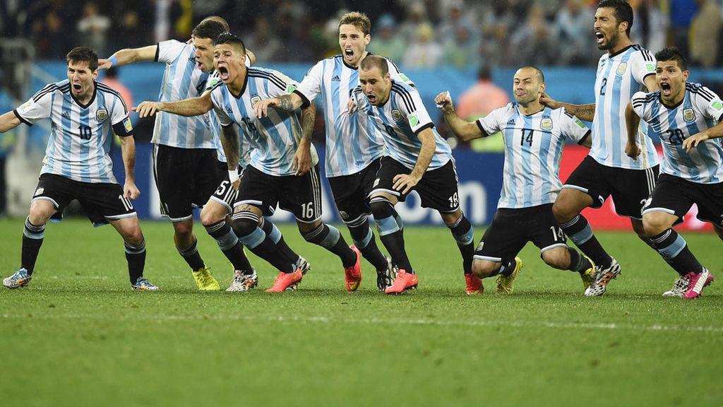 La selección Argentina estalló de alegría
