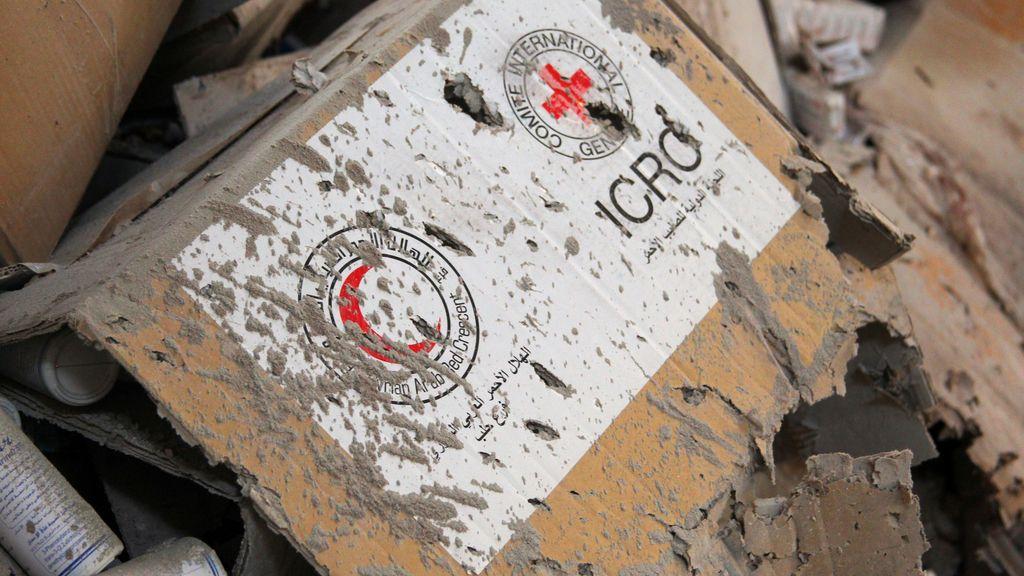 Bombardeo a un convoy en Alepo