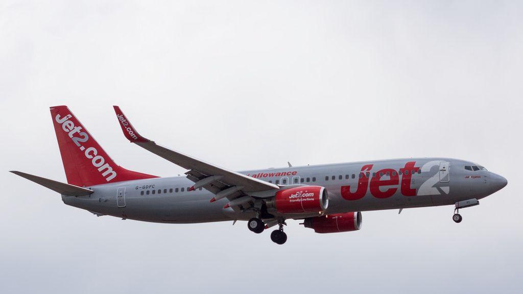 Un avión de la compañía británica Jet2