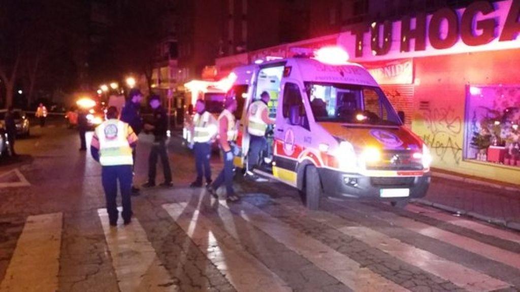 Dos heridos por arma blanca y arma de fuego en una reyerta en Madrid