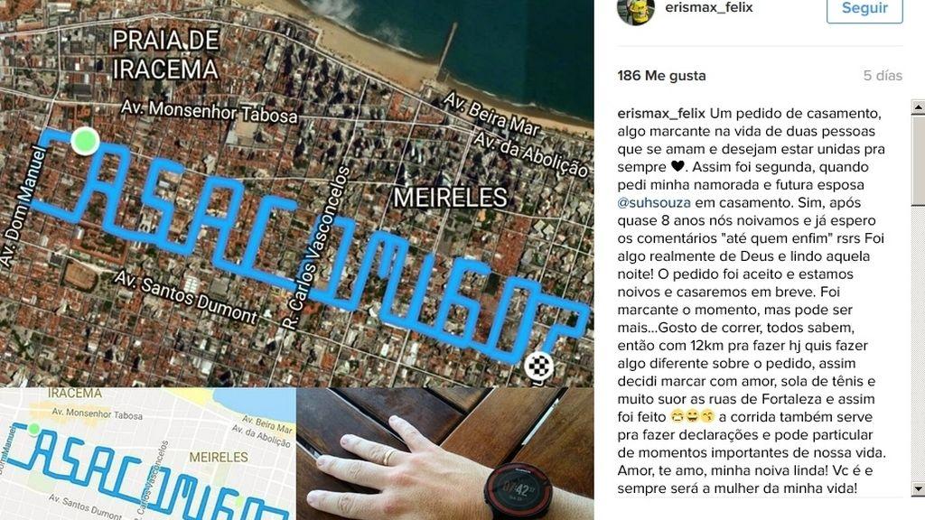 Un 'runner' recorre 12 km para pedirle matrimonio a su novia
