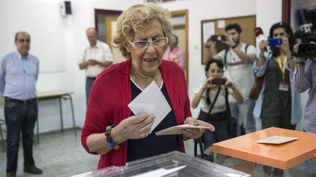 Manuela Carmena ha sido la más madrugadora de todos los representantes políticos