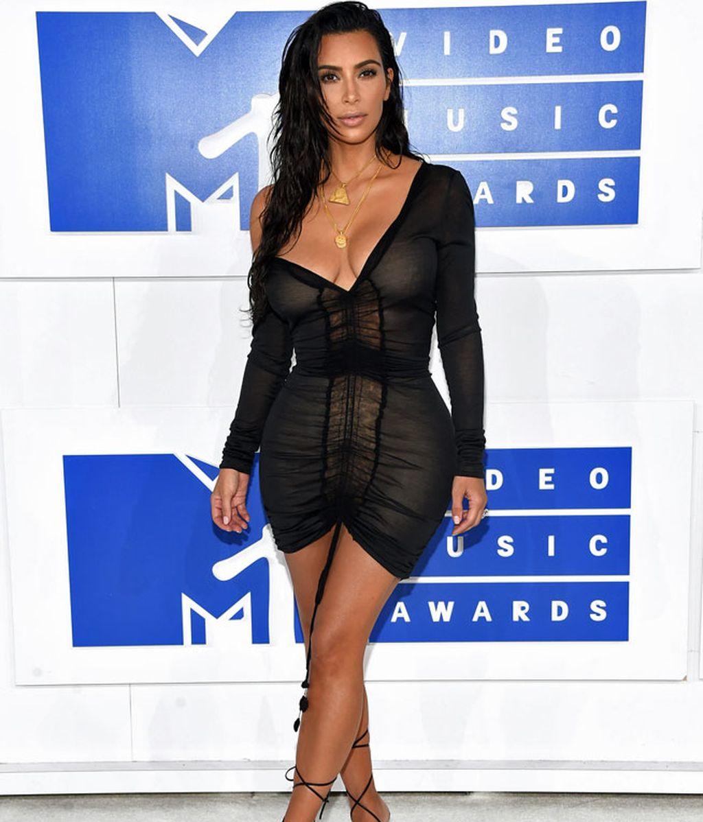 Kim Kardashian en los 'MTV MVA' en Madison Square