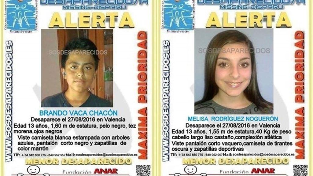 Menores desaparecidos en Valencia