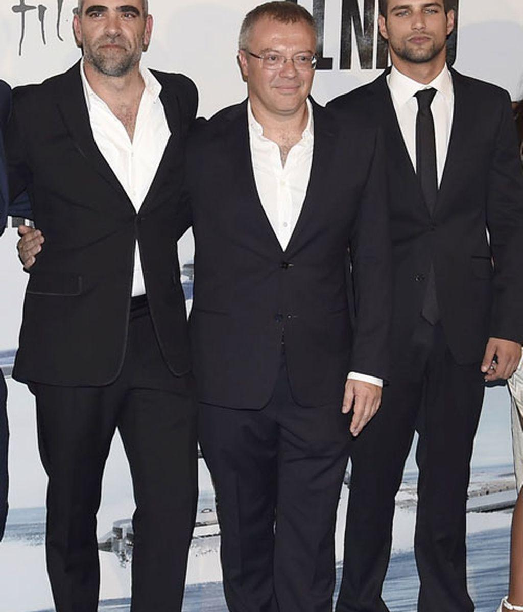 Daniel Monzón junto a Jesús Castro y Luis Tosar
