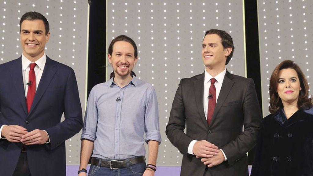 PSOE, PODEMOS, CIUDADANOS y PP