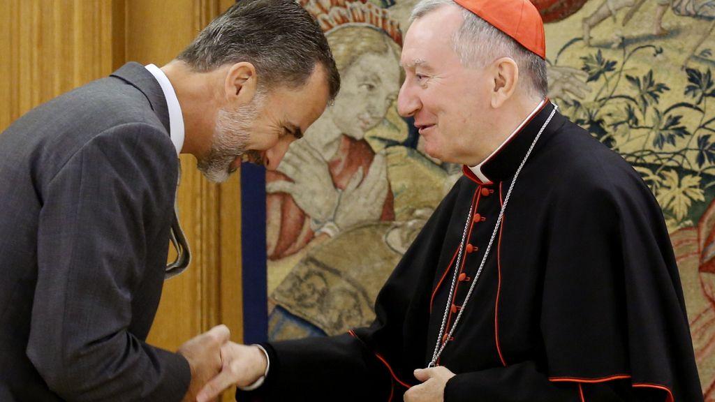 El rey recibe al secretario de la Santa Sede