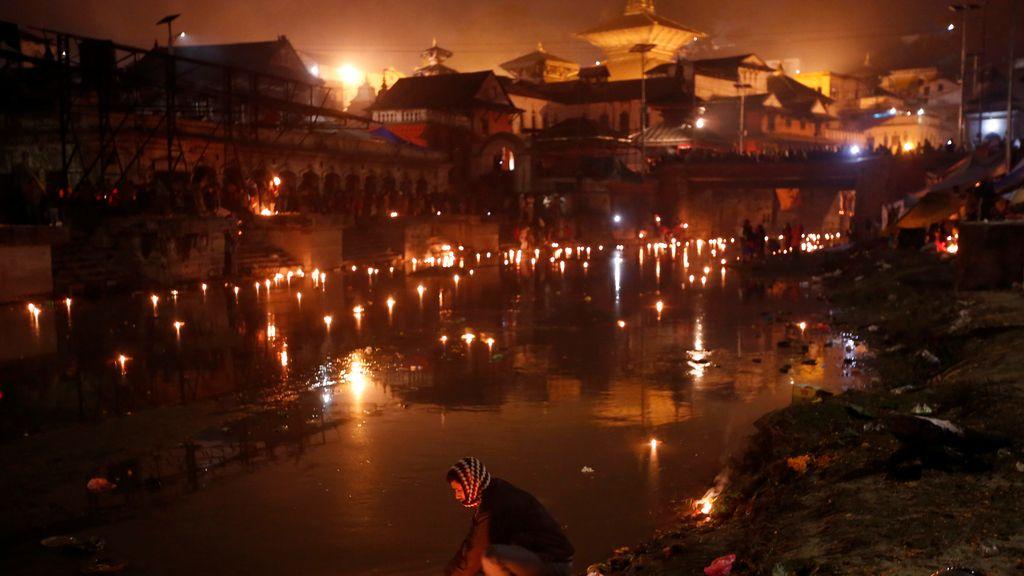Festival religioso en Nepal