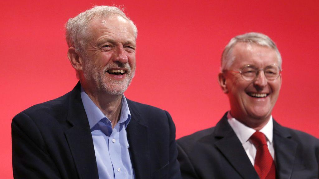 Hilary Benn,líder laborista británico y Jeremy Corbyn