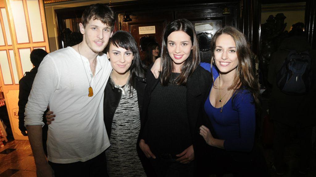 Nicolás Coronado, Alba García, Dafne Fernández y Silvia Alonso