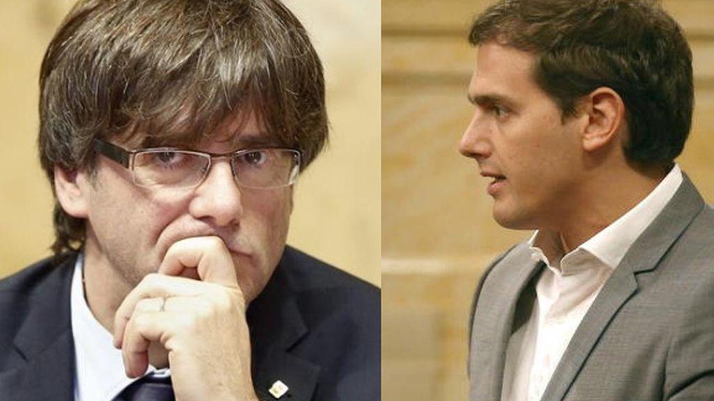 Puigdemont y Rivera se reúnen con posiciones antagónicas sobre el referéndum