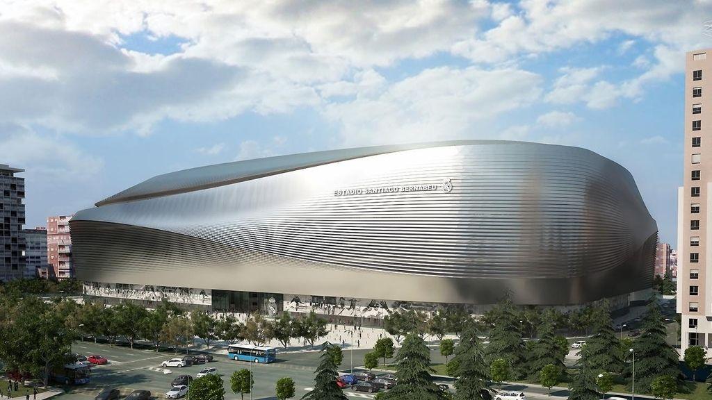 Así será una de las fachadas del nuevo Santiago Bernabéu