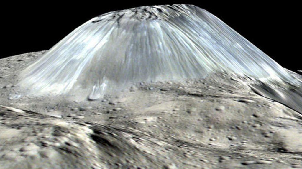 volcán de hielo,  planeta Ceres