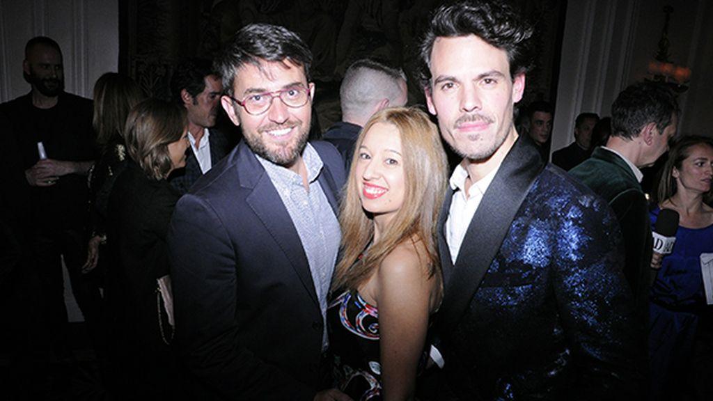 Máxim Huerta, Virginia Pizarro Carbonero y Juan Avellaneda