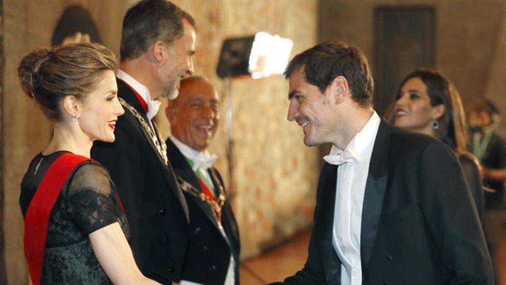 La cena de gala, de 150 invitados, se celebró en el Palacio de Braganza