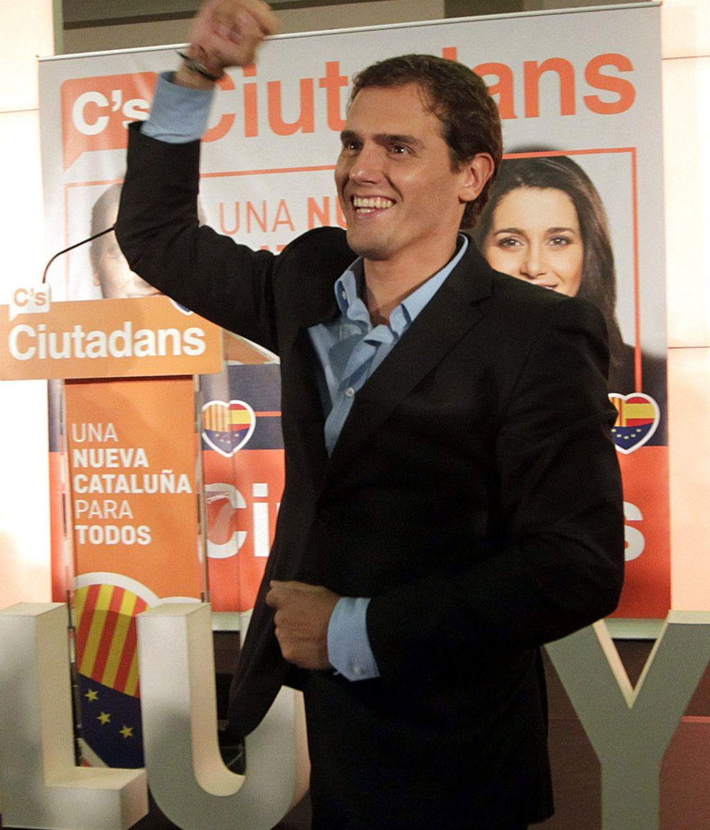 Rivera, celebra los resultados de Ciudadanos en las elecciones del 27S