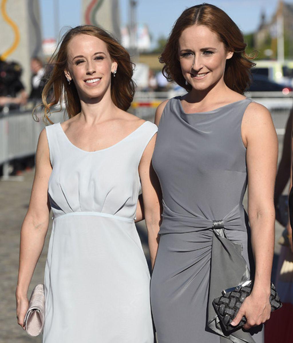 Las hermanas de la novia, las pizpiretas Sara y Lina Helkvist
