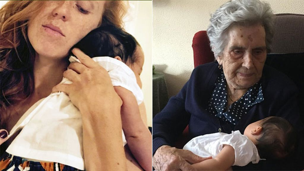 """Con mamá y con la bisabuela: """"#Elciclodelavida, #emoción"""""""